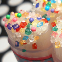 Cotton Candy Confetti Sugar Lip Scrub  by ForGoodnessGrape on Etsy