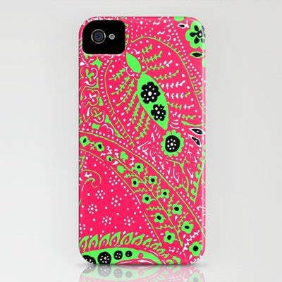 Pretty Paisley iPhone Case by Romi Vega | Society6