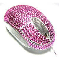 Amazon.com: USB Optical Scroll Wheel Pink Crystal Rhinestone Computer Mouse: Everything Else