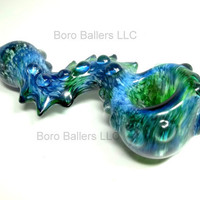 Glass Pipe, Spiked Serpent Inside out Color Changing Glass, ready for shipping, Cgge Team