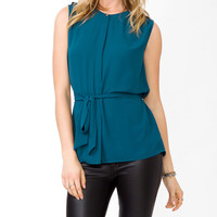 Epaulette Chiffon Top