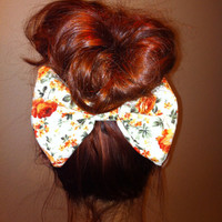 Vintage roses bow