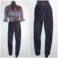 Vintage 1980s Crushed Velvet Leggings