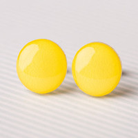 Banana Yellow Post Earrings