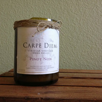 Carpe Diem Love Spell Scented Recycled Wine by OnceUponaWineBottle