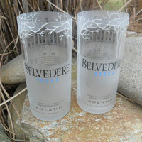 Belvedere Vodka Glass Tumbler Set by BottleCrafters on Etsy