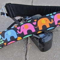 Funky Camera Straps Elephants on Parade dslr strap by FunkyMutt