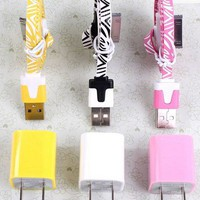 Total 6pcs/Lot! Im 3PCS USB Data Charging Cord and charger iphone 4/4S