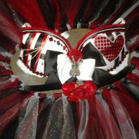 Queen of hearts bra/ tutu outfit... Any custom outfit made to order