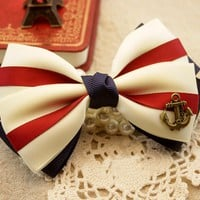 Nice Anchor Hair Bow