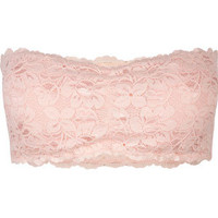 Padded Lace Bandeau Pink  In Sizes