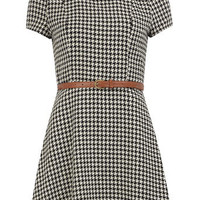 Black checked flared dress - View All New In   - What's New