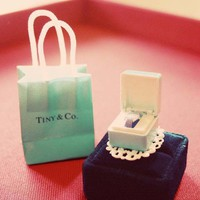 Tiny Tiffany's Blue Surpise ring by lepetitebonbon on Etsy