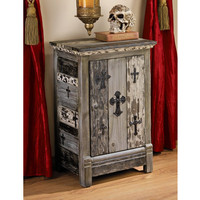 Gothic Sanctuary Side Table Cabinet - MH10216 - Design Toscano