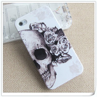 Unique Skull with Rose Style iPhone 4/4s Case