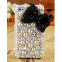 Gullei Trustmart : Apple iPhone4 3GS Pearl Bow Case Cover [GTMSP0027] - &amp;#36;44.00-Couple Gifts, Unique USB Gadgets, Best iPad/iPod/iPhone Covers &amp; Home Decor