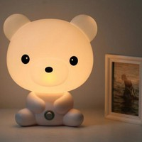 Cute Cartoon Bear Night Light Lamp