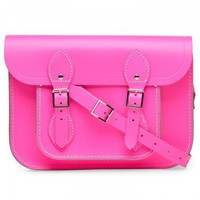 Fluoro 11 inch leather satchel, Satchels, Harvey Nichols Store View