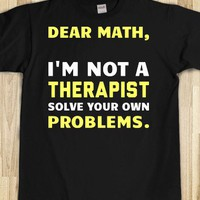 Math, I'm Not a Therapist - Text First