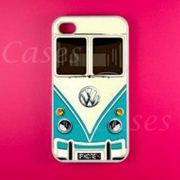 Amazon.com: Vw Minibus Teal Iphone 4 Case, Iphone 4s Case: Cell Phones & Accessories