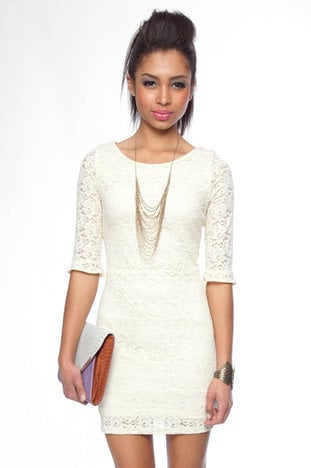 Make it Lace Forever Dress in Ivory :: tobi