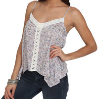 Crochet Trim Floral Tank | Shop New Romantics at Wet Seal