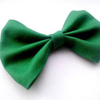 Small Green Hair Bow- Rockabilly/Pinup St. Patricks Day