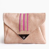 Zipped Stripe Envelope Clutch @ FrockCandy.com