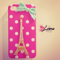 Polka Dot Eiffel Tower iPhone 4/4s Case