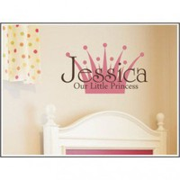 Alphabet Garden Designs Our Little Princess Wall Decal - child016