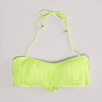 AE Fringed Bandeau Bikini Top | American Eagle Outfitters