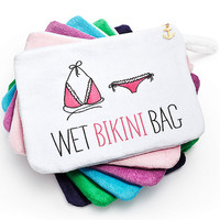 Personalized Wet Bikini Bag at The Knot Wedding Shop