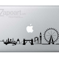 London Skyline Sticker Decal Laptop Decal iPad by Zapoart on Etsy