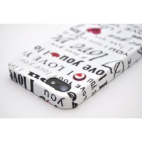 Amazon.com: For iPhone 5 Wydan i love you Design Print Flexible Skin TPU Case Durable Cover: Cell Phones & Accessories