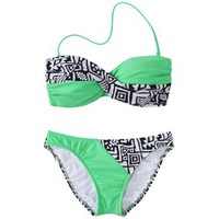 Junior&#x27;s 2-Piece Swimsuit -Tribal Print
