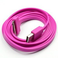 Amazon.com: KLOUD ® Hot Pink Widest (TM) Flat 6FT feet USB Data / Sync Cable for Apple iPhone 4 4S 3GS iPod Touch New iPad plus KLOUD cleaning cloth: Computers & Accessories