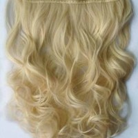 "Amazon.com: Straight or Curly 3/4 Full Head Clip in Remy Hair Extensions One Piece 5 Clip Ins (Curly 20"", Blonde): Beauty"