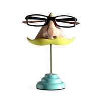 Nose Eyeglass Stand Blonde Moustache by ArtAkimbo on Etsy