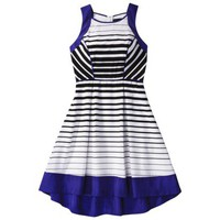 Mossimo® Women's Stripe Sleeveless Dress -White/Black