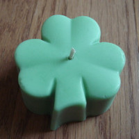 Shamrock Soy Blend Floating Candle/Wax Melt by JaxxCandles on Etsy