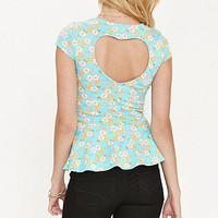 Kirra Hearts Back Peplum Top at PacSun.com
