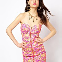 Reverse Dress In Fluro Floral at asos.com