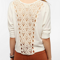 Staring At Stars Crochet-Back Sweatshirt