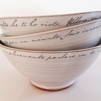 Love letter bowl white by zzaga on Etsy