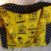 The Shelley Bag in black and yellow