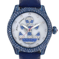 Betsey Johnson Anchor Dial Pavé Crystal Watch | Nordstrom
