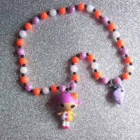 Lalaloopsy Circus Girl and Elephant Charm Stretch Necklace from On Secret Wings