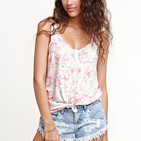 Kirra Button Front Pocket Sleeveless Shirt at PacSun.com