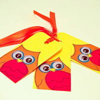 Gift Tags - Handmade Owl Gift Tag - Pack of 6