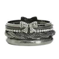 Rhinestone Bow Bangle Set | Shop Jewelry at Wet Seal